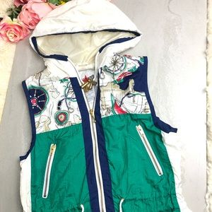 Active Frontier Vintage Windbreaker Vest ZIP up
